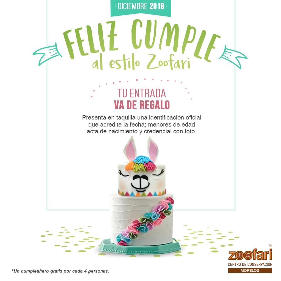 Promoción de cumple en Zoofari
